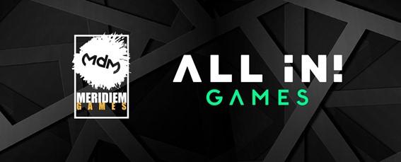All in! Games e Meridiem Games annunciano una nuova partnership